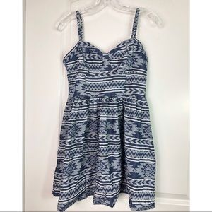 Cecico Blue/White Dress Sz M